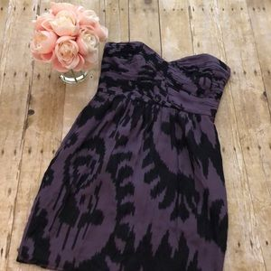 Shoshanna Silk Strapless Dress- Size 6